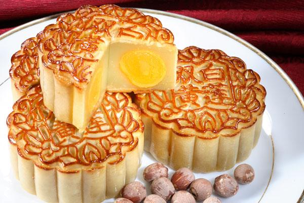 德生食品的双黄白莲蓉